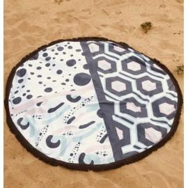 Serviette de plage ronde - Hexa