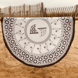 Serviette de plage ronde - Surfing