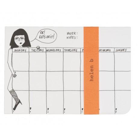 Weekly planner / semainier pin up - Helen b
