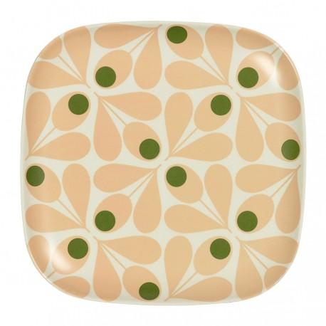 assiette bambou - rose pâle