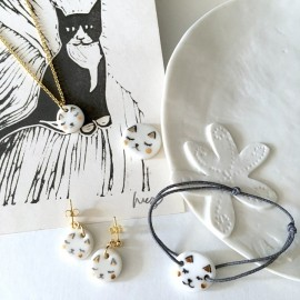 Collier chat en porcelaine - Natacha Plano