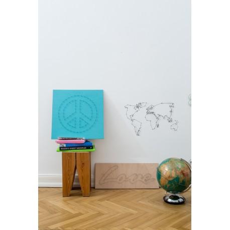 kit de String art - DIY - We are the world - Donkey