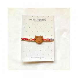 Bracelet Chat cordon Liberty - Madame Grizzly