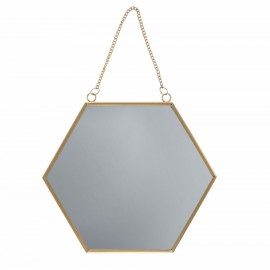 Miroir Hexagonal - Métal Or | Sass & Belle