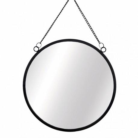 Miroir Rond - Métal Noir | Sass & Belle