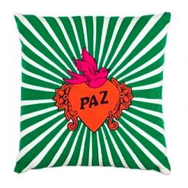 Coussin broderie PAZ - vert | Kitsch Kitchen