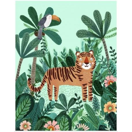 Affiche Tigre - Petit Monkey