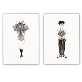 Lot de 2 carnets Flower | Helen b