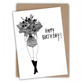 Carte Flower Girl - Happy Birthday | Helen b