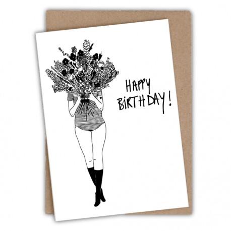 Carte Flower Girl - Happy Birthday | Helen b