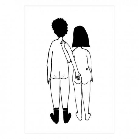 Affiche A4 - Couple nu de dos   Helen b