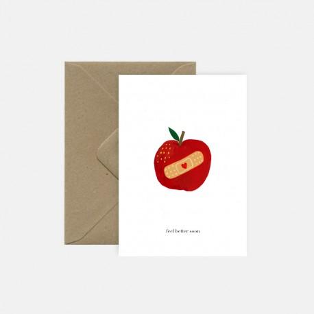 Carte Pomme | Pink Cloud Studio