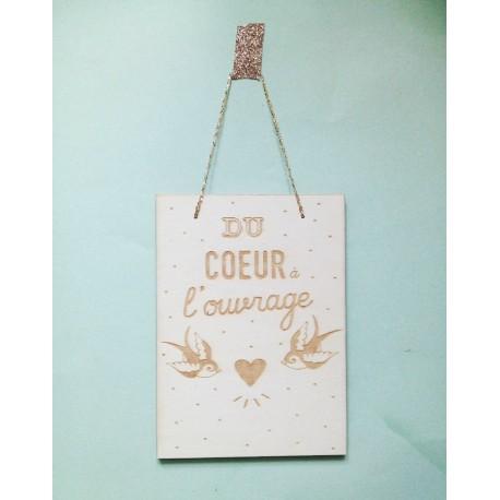 Carte en bois Coeur