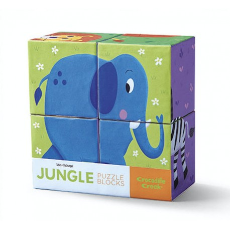 Puzzle 4 cubes - jungle