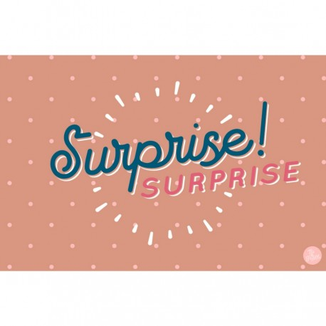 "Carte ""surprise"" - Rose"