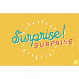 "Carte ""surprise"" - Jaune"